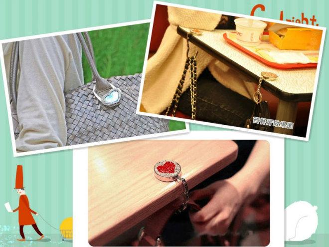 Promotion Gift Table Top Bag Hook Bag Hanger Stand (G01018)