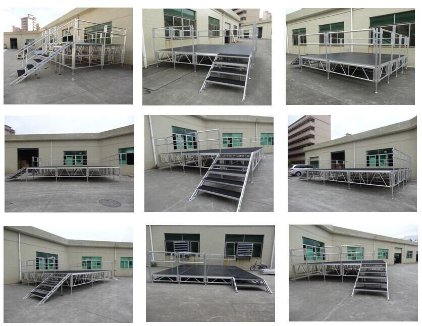 Irregular Shape Aluminum Portable Stage for Outdoor Event for Sale