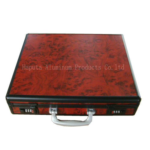 Laptop Brief Case with Red Panel and 2 Combination Locks