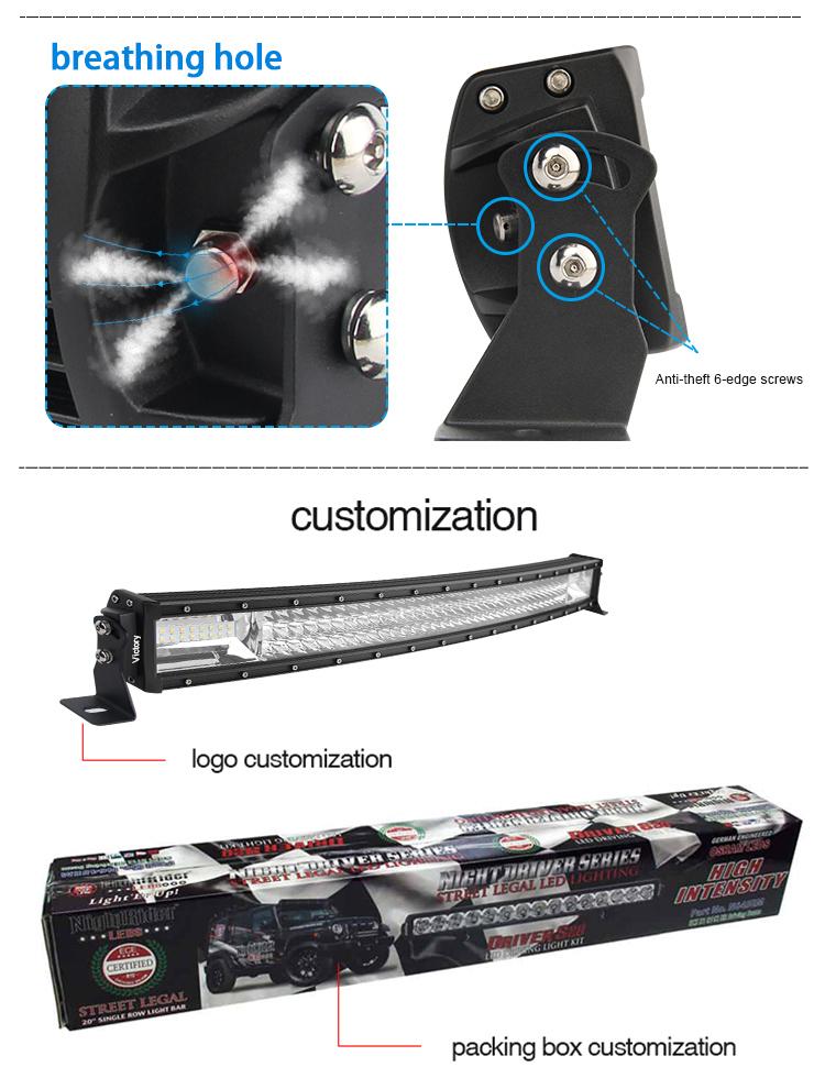 Wholesale Super Bright LED Work Light Bar off Road Dual Row Black 405W 32 Inch Car LED Light Bar