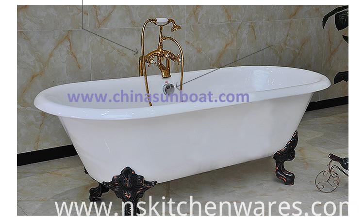 china sunboat freestanding bathtub enamel cast iron