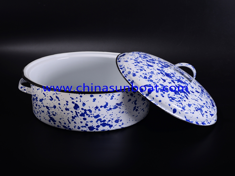 Enamel Shallow Pan with Printing