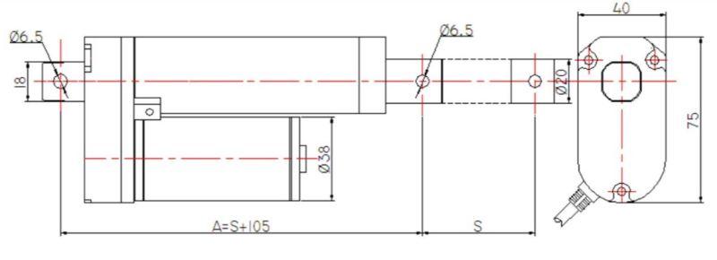 12V/24V DC Linear Actuator for Sliding Doors