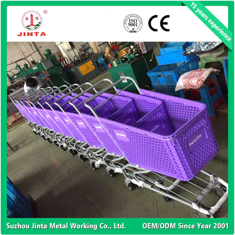 New Designed Pure Plastic Shopping Cart