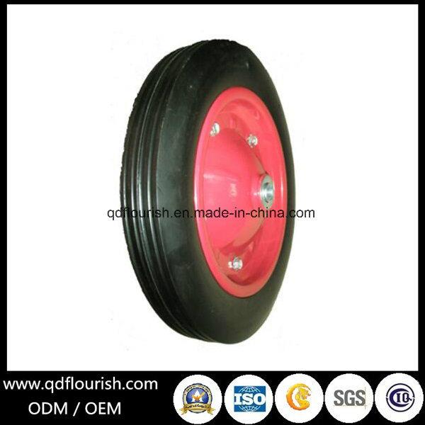 Sr2400 Solid Rubber Powder Wheel Steel Rim for Trolley