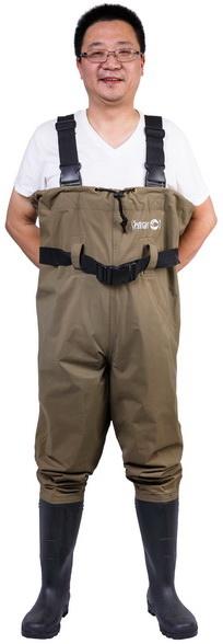 Waterproof Men's Nylon PVC Chest Wader (7798P)