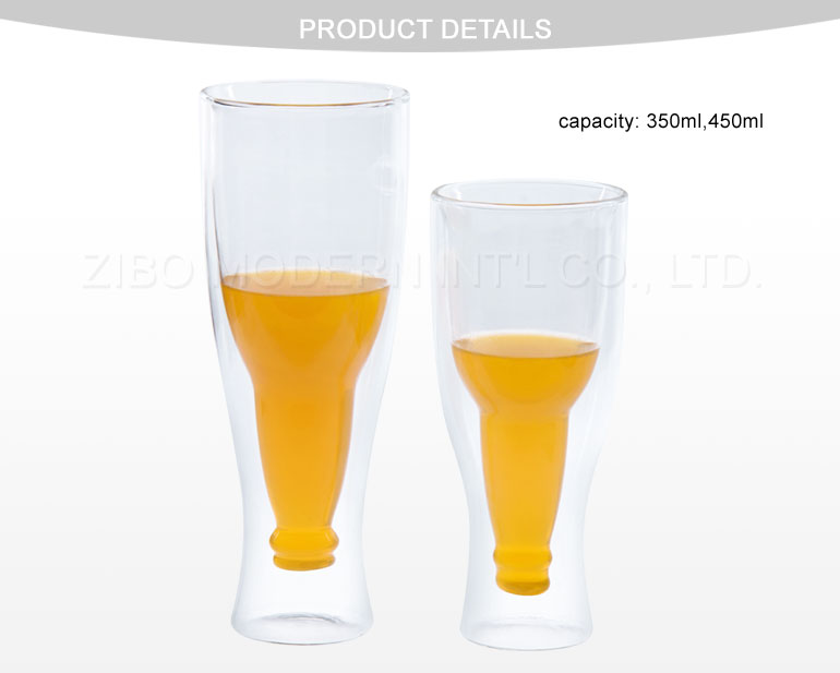 Wholesale Glass Beer Mugs/Beer Glass Cup/350ml 450ml Beer Steins