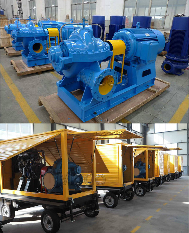 200HP Diesel High Flow Centrifugal Double Suction Water Pump