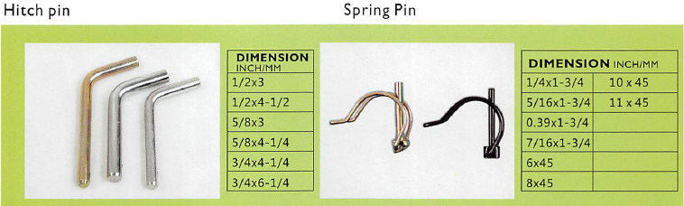 Fastener Accesories Spring Lock Pin/ Pipe Lynch Pin