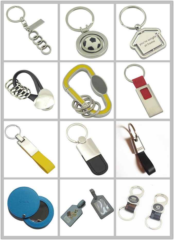 Promotional Competitive Color Metal Round Keyring with Engrave Logo (F1069)
