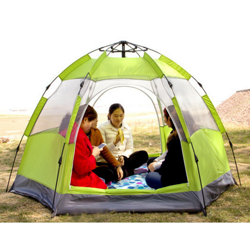 5-8person Double Layer 2 Door Pop up Instant Automatic Camping Family Tents Outdoor