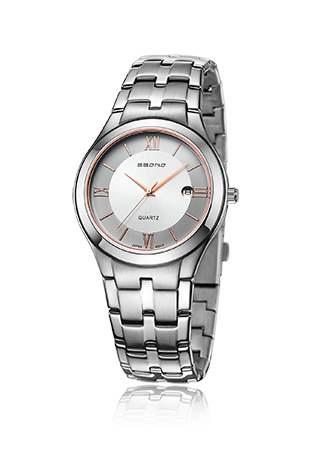 Cheap Stainless Steel Quartz Couple Wrist Watch