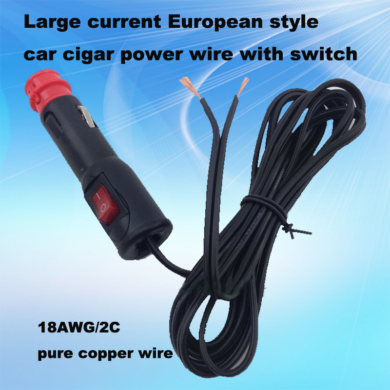 The Latest European Model Car Cigarette Lighter Power with Switch