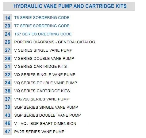 Replacement Daikin V15, V23, V38, V70 Repair Kit/Piston Pump Spare Parts