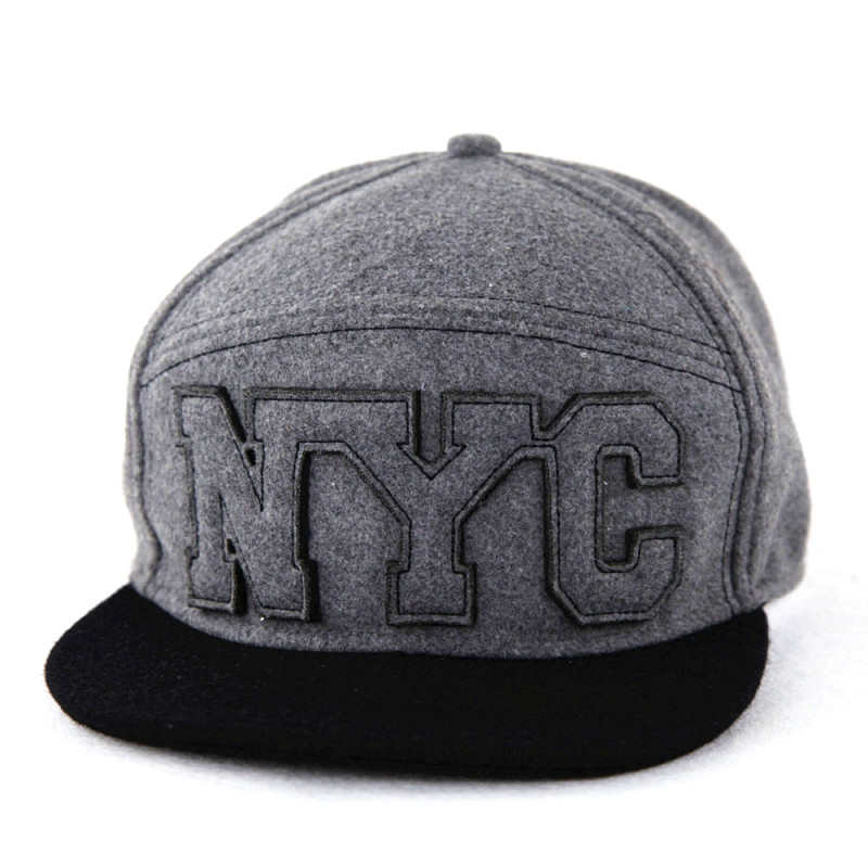 Jersey Knitting Heather Grey Baseball Caps