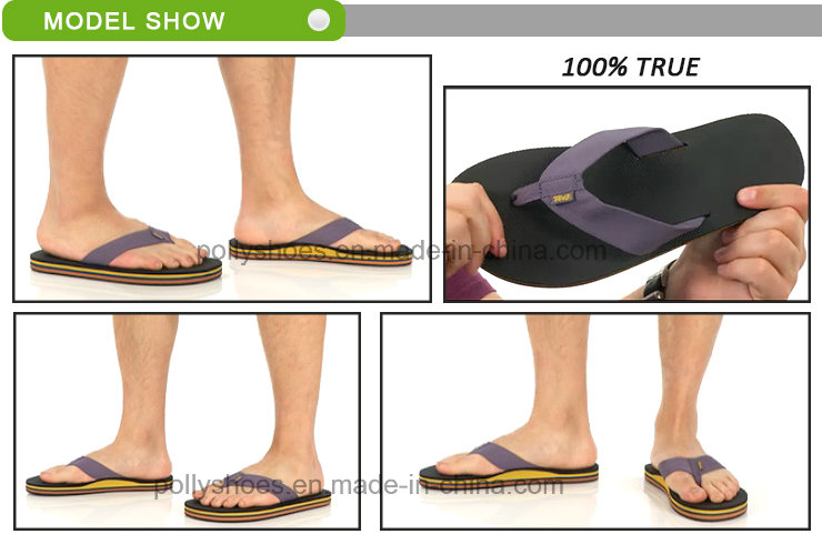 Leather Flat Beach Slipper Men Shoe Flip Flop