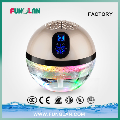 Globe Air Purifier with Ionizer and Changing LED Lights
