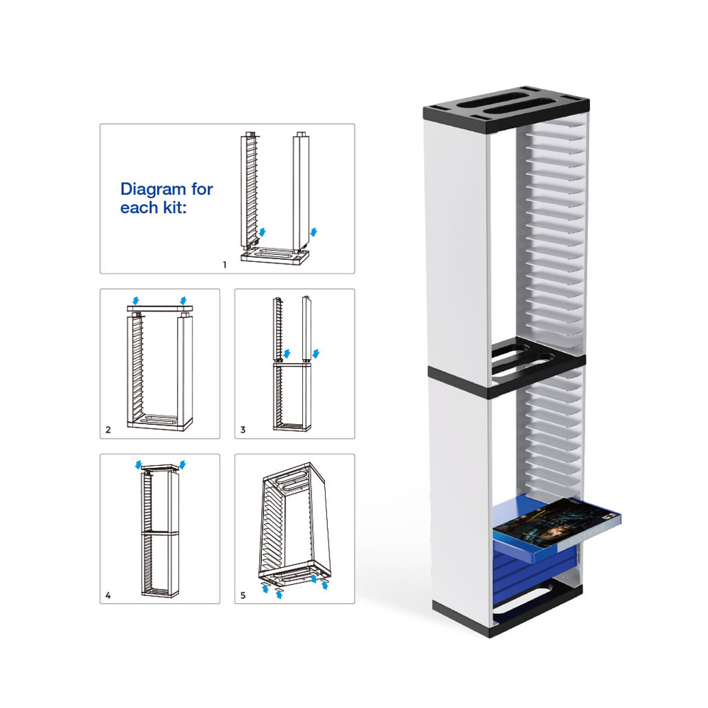 Storage Tower Stand for Playstation PS5
