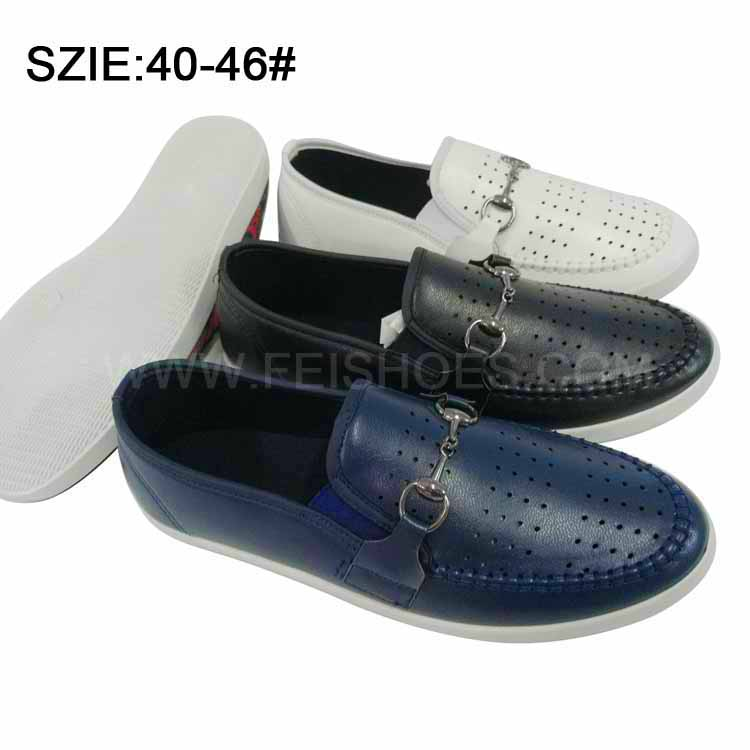 New Style Men's Slip on Breathable Casual Leather Shoes (MP16721-14)