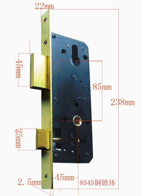 , Wood Door Lock Body, Bathroom Lock Body, Rim Lock Body, Lock Body Al-8040