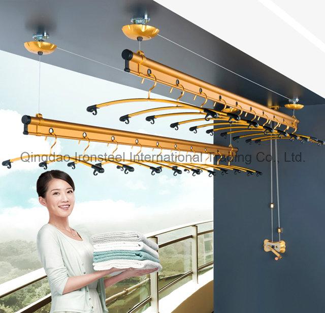 Manual Type Adjustable Cloth Hanger with Racks