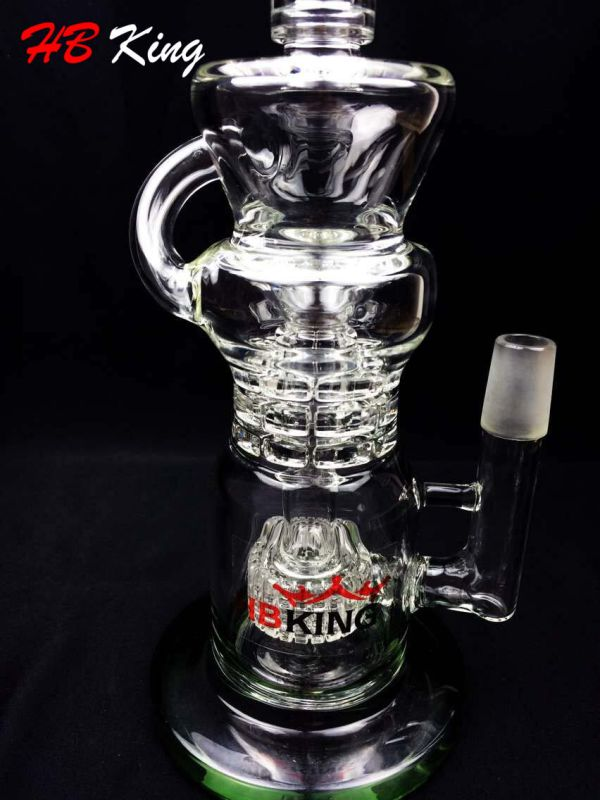 Tornado Honeycomb Birdcage Percolators Glass Water Pipe with Factory