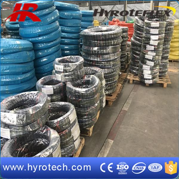 SAE 100r12 Rubber Hydraulic Hose Pipe/Mangueras DIN En856 4sh