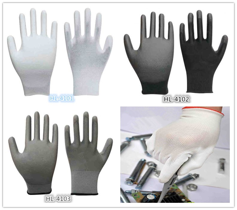 Girls Youth Stretch Nitrile Coating Glove
