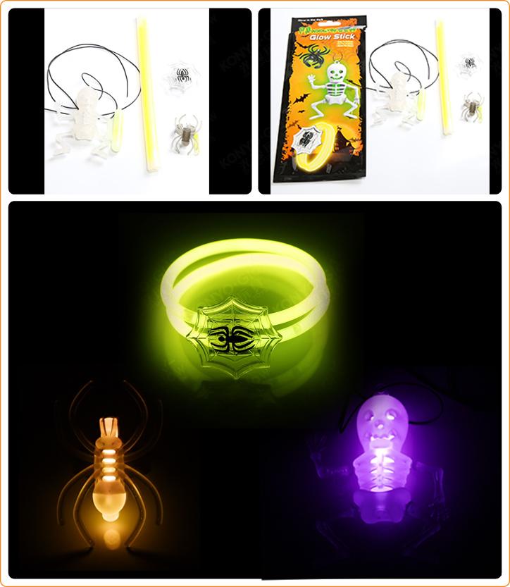 New Glow Spider Bracelet Set for Halloween