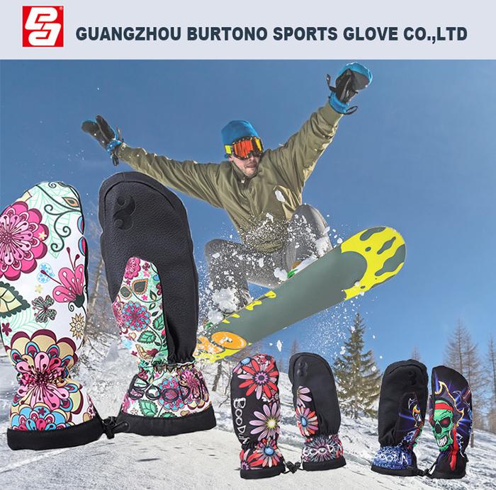 New Design Waterproof Outdoor Sports Hand Warmth Ski Mittens