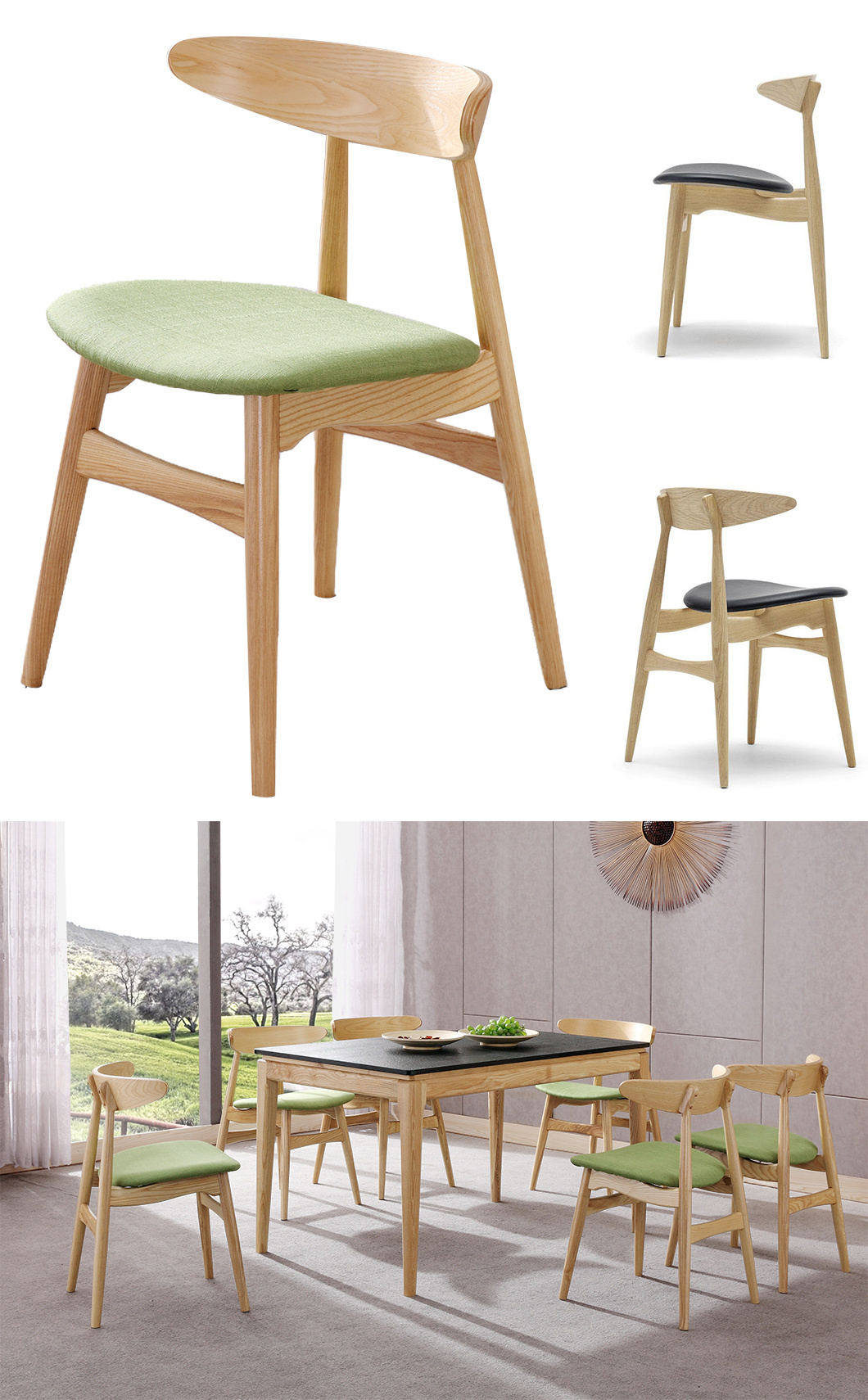 Modern Wood Home Furniture Leisure Restaurant Chair for Dining Room