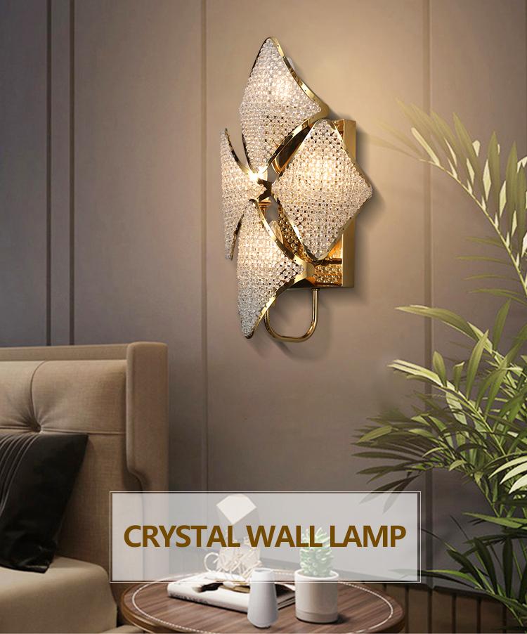 Lavius современный внутренний декоративный светильник для спальни с кристаллами