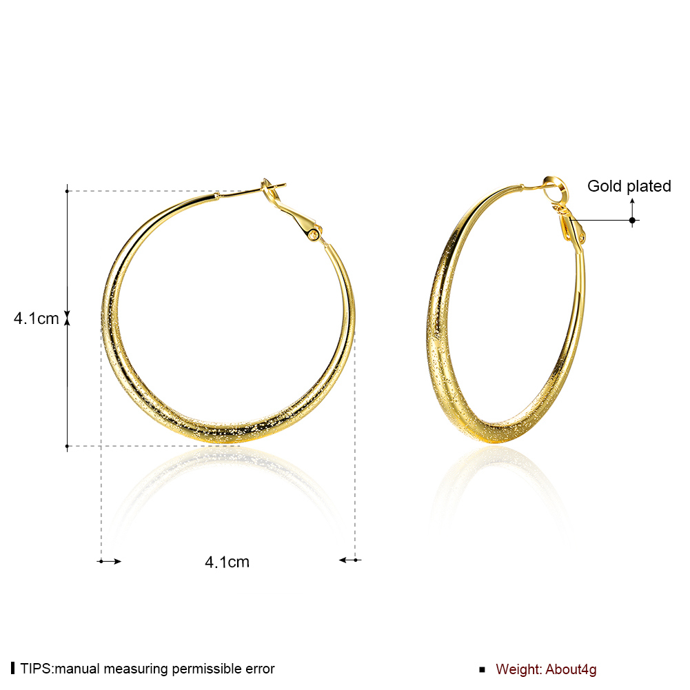 Simple Round Earring with Gold Rose Gold Plated Design for Women