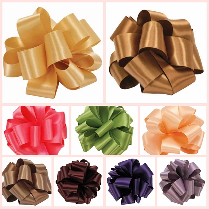 Wholesale Polyester Double Faced Satin Printed Green Ribbon for Sale