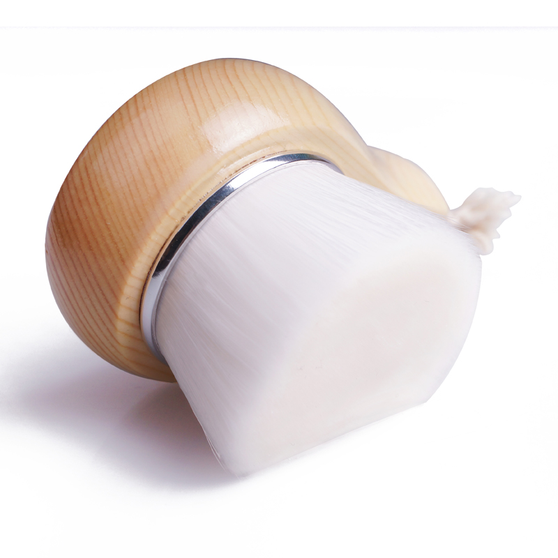 Wholesale Cosmetic Face Cleasing Brush Facial Brush with Wood Handle