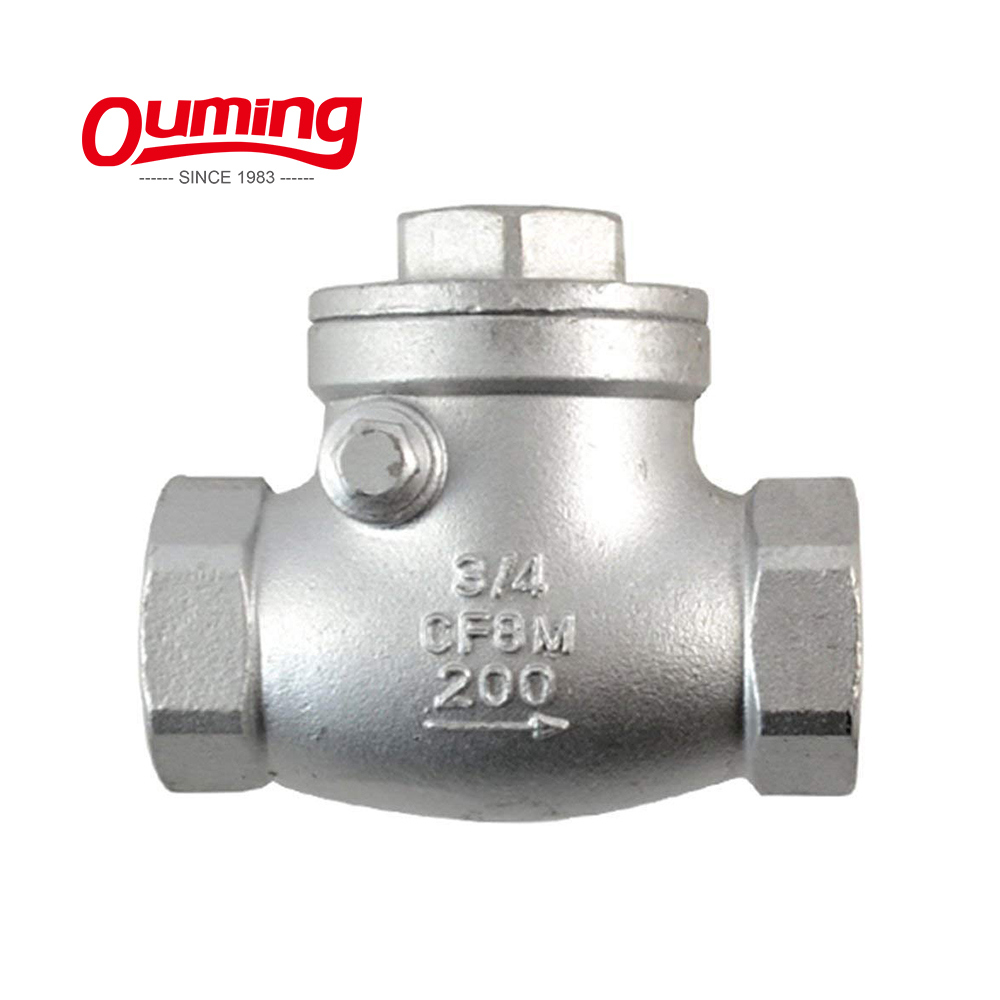 OEM 1/2 3/4 1 Inch Forged Non Return Water Meter Sewage Swing Inline Stop Check Valve