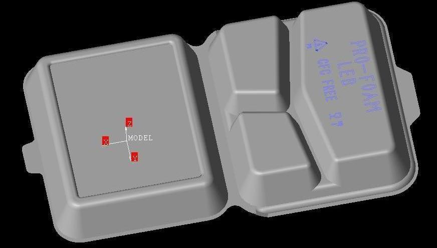 PS Foam Heating Pressing Mold Fast Food Lunch Box Container Mould