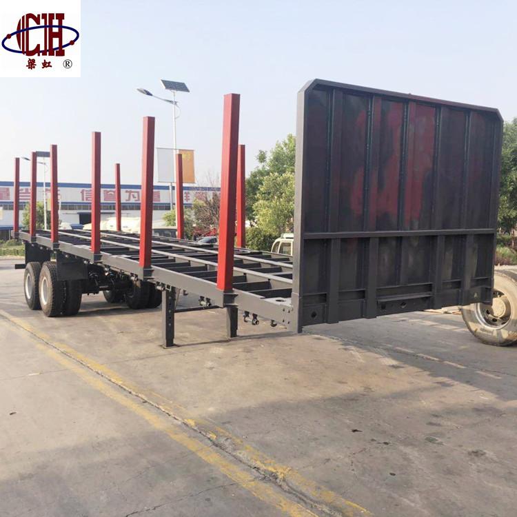 High Quality Timber Wood Flatbed Semi Trailer Tri-axle Flatbed Semi Trailer 40ft Container Flat Deck Flatbed Semi Trailer.jpg