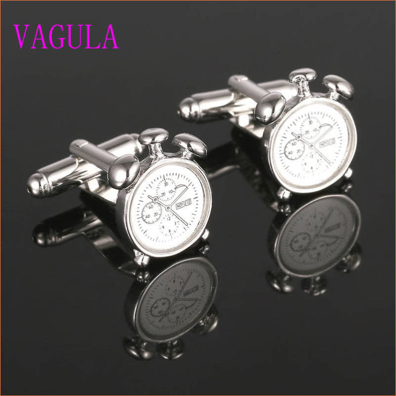 VAGULA Gemelos Funny Alarm Clock Cuff Links 357