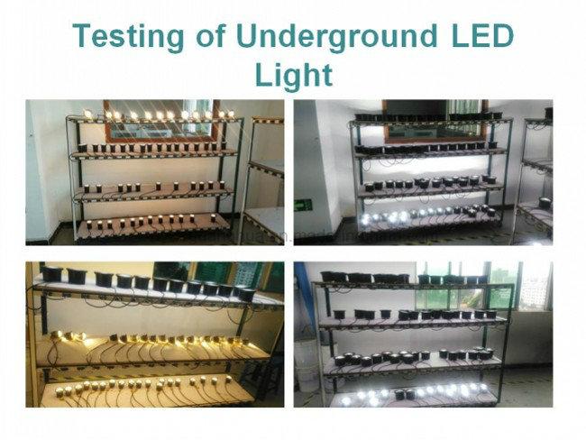 30cm Diameter Waterproof IP67 Round LED Underground Light 36W RGB White Color