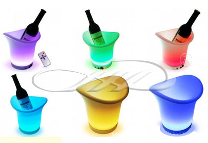 PE Material Rotational Moulding Plastic LED Ice Bucket