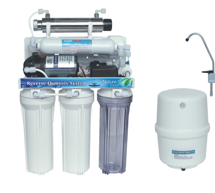 7 Stage RO System Water Filter with Ultraviolet Sterilizer