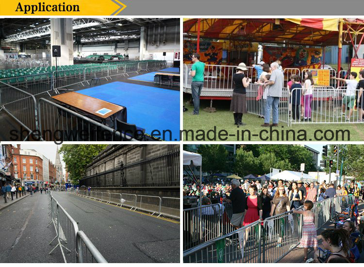 Safety Metal Fence Pedestrian Crowd Control Barrier