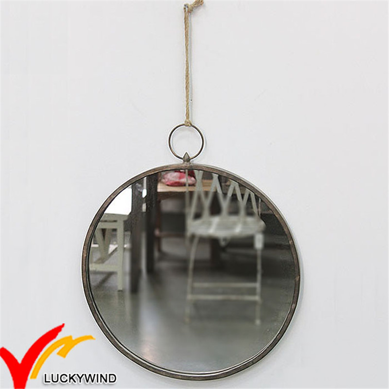 Antique Vintage Round Handmade Metal Wall Mirror for Home Decoration