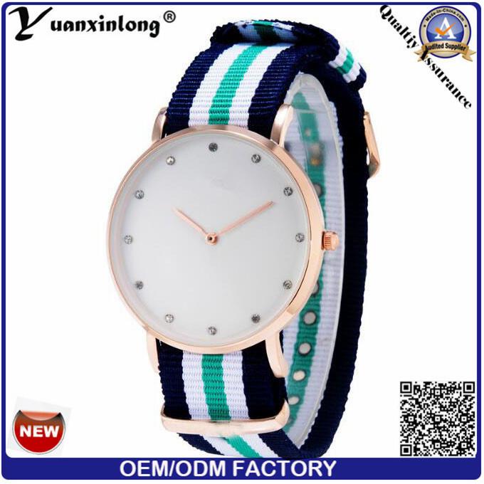 Yxl-213 New Fashion Nylon Strap Diamond Luxury Women Watches Quartz High Quality Vogue Watch Wrist