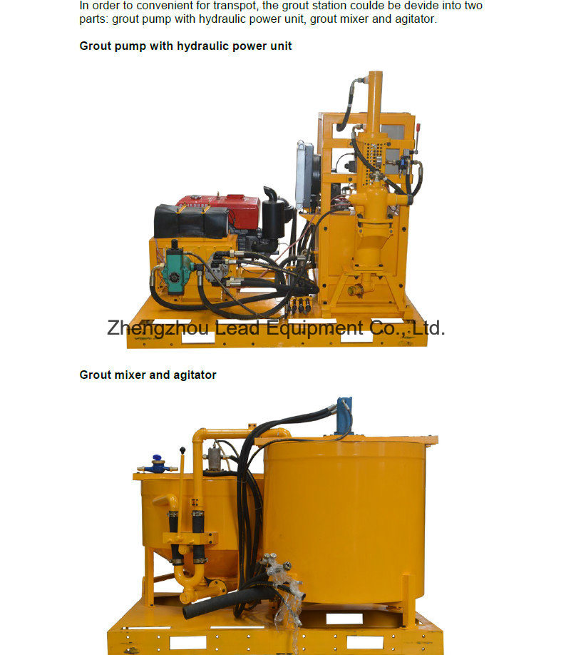 Competitive Price with Compact Size Mixing Plant for Cement Grout