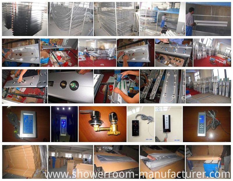 4mm Grey Glass Small Frame Shower Room (ADL-8201)