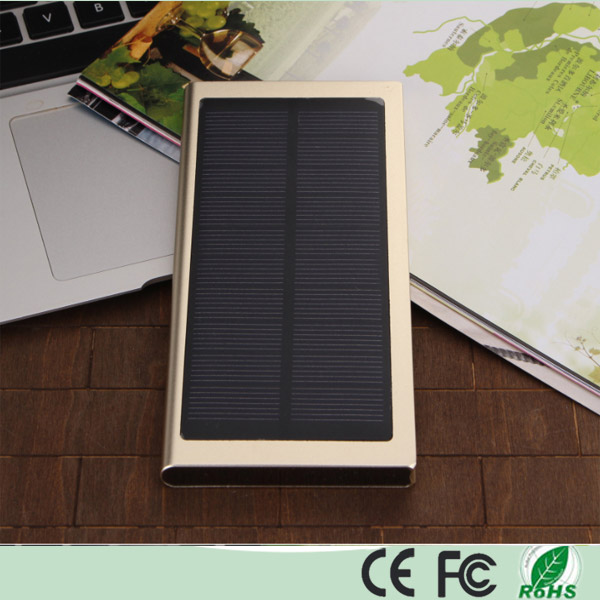 Ultra Slim Dual USB 12000mAh Solar Powerbank (SC-1688-A)