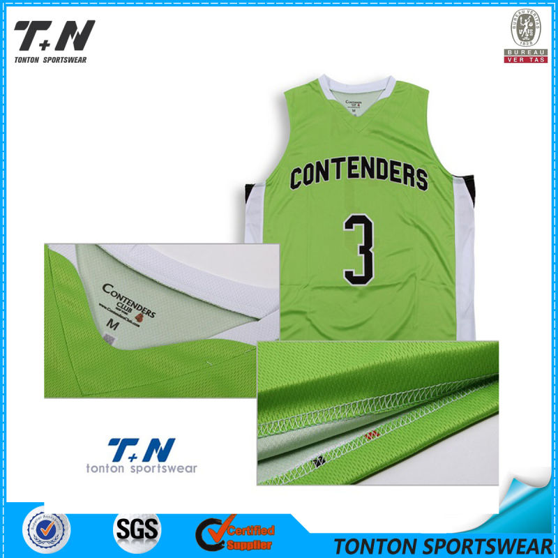 2015 Hot Sale Custom Sublimation Reversible Basketball Uniforms
