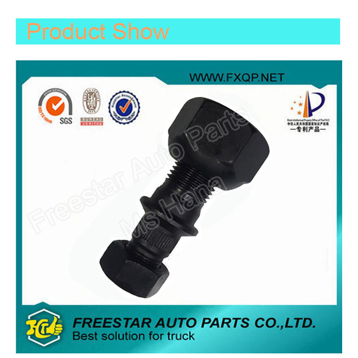 Black Truck Hub Wheel Bolt and Nut Fit for Hyundai